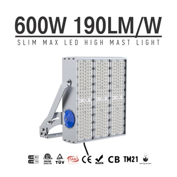 600W 720W 900W LED High Pole Light - IP66 IK10 Anticorrosive Outdoor Oil Field, Industrial Lighting