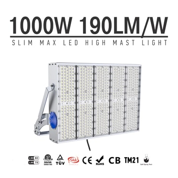 1000W 1500W High Power Outdoor LED High Pole Lighting for Tower, Tunnels, Velodrome