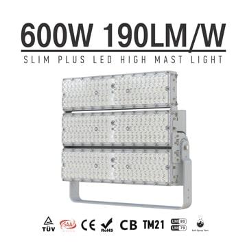 600W LED Flood Light 190Lm/W, Aluminum 3 Module 4000K 5000K Easy to assemble Waterproof Outdoor Pole Light