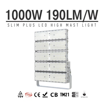1000W LED Light Super Efficient Energy saving, 180,000Lm Large Area Lighting