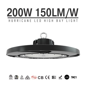 200W 30000Lm TUV CE Workshop LED UFO High Bay Lighting fixtures