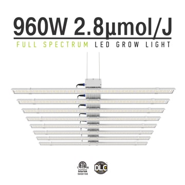 Full Spectrum LED Grow Lights - Apollo 960W 8 bars LED Veg Light, LED Plant Lamp, 54,000 hours Lifespan