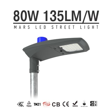 80w DLC ETL ENEC led street light-10400 Lumen-135Lm/w -Waterproof IP66
