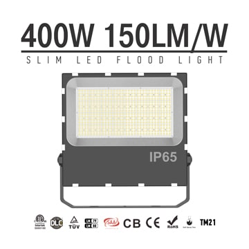 400W LED Flood Light, 3000K 6500K Outdoor Landscape, Area, building exterior security lighting