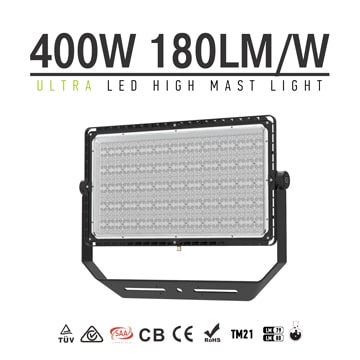400W LED Stadium Flood Light with Bracket Mounting , 72,000lm 100-277V Super Bright Sport Light Fixtures