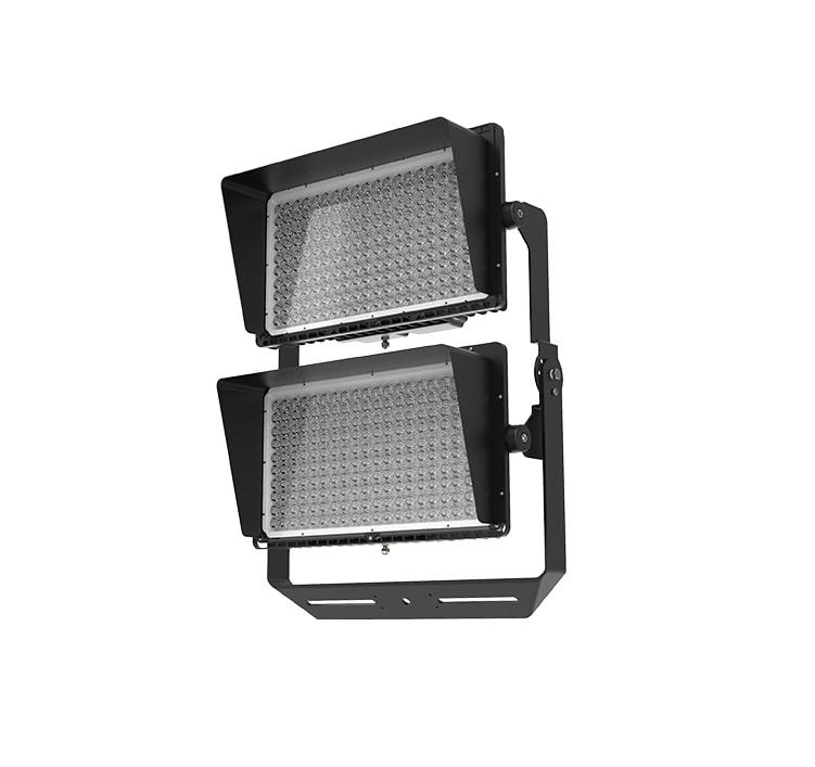Stadium LED Lighting Fixtures - 800W 100-277V IP66 Anti-glare Rotatable Bracket Flood Light