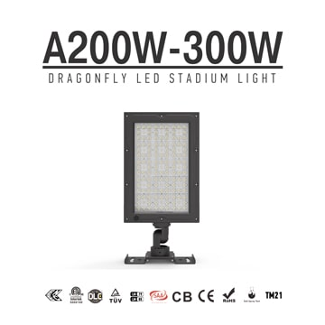 200W/ 240W/ 300W LED Sports Field Security Light 300W-Philips Chip IP66 Aluminum Flood Luminaire