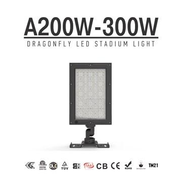 200W/ 240W/ 300W LED Sports Field Security Light 300W-Philips Chip IP66 Aluminum Flood Luminaire