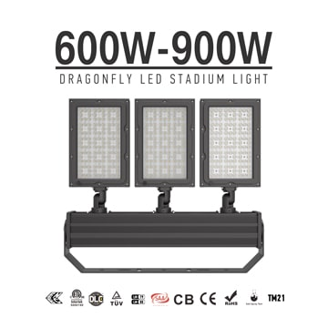 600W/ 720W/ 900W Lightweight Indoor outdoor Stadium LED Light, Sport Field Uniform Flood Lighting