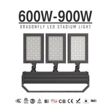 600W/ 720W/ 900W Lightweight Indoor outdoor Stadium LED Light, Sport Field Uniform Flood Lighting