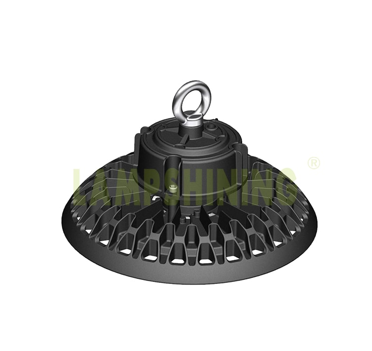 200W Adjustable wattage Smart Dimming LED High Bay Light -  6-20meter Black Die-casting Ceiling Hang Lighting