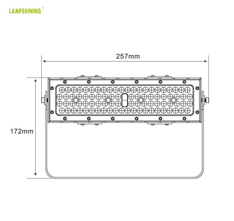 50W IP66 8500lm Slim ProE LED Area Flood Light 110V 240V Warm White For Tunnel, Billboard