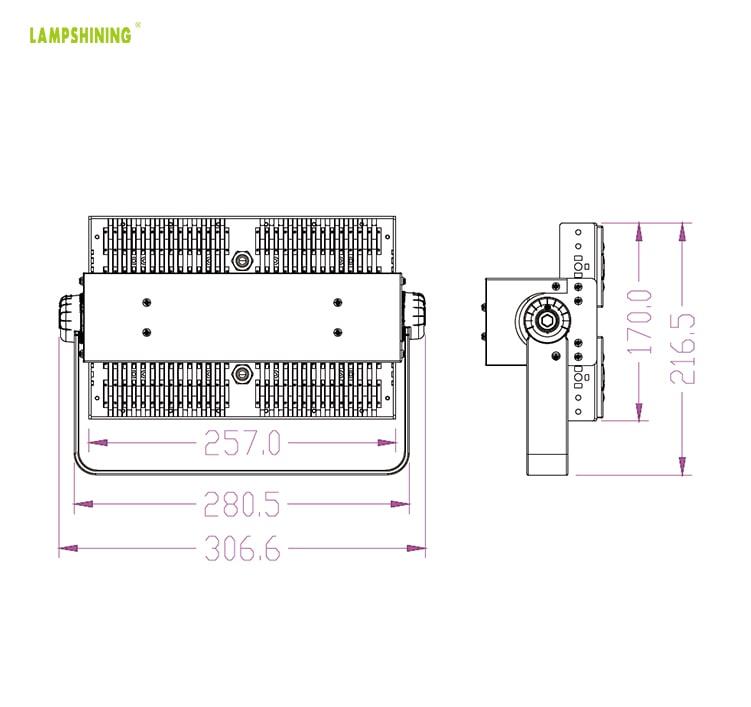 100 Watt LED Area Light - 17000lumen - Outdoor Dimmable IP66 Floodlight Wholesale