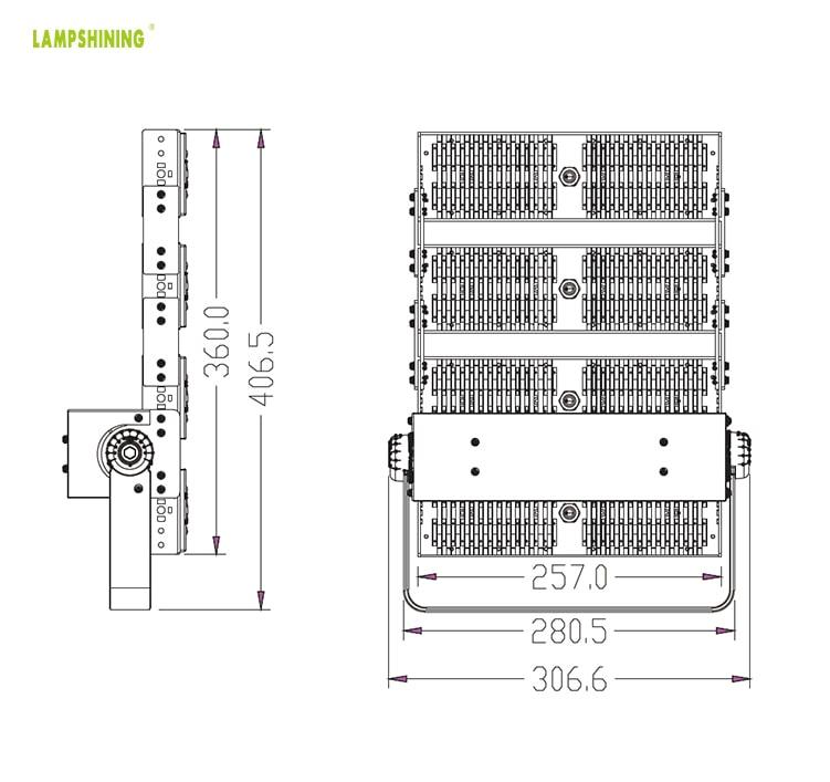 200W 34,000 Lumens LED Flood Light Outdoor Security Lighting - Garden, Parking lot, Sports Field Light