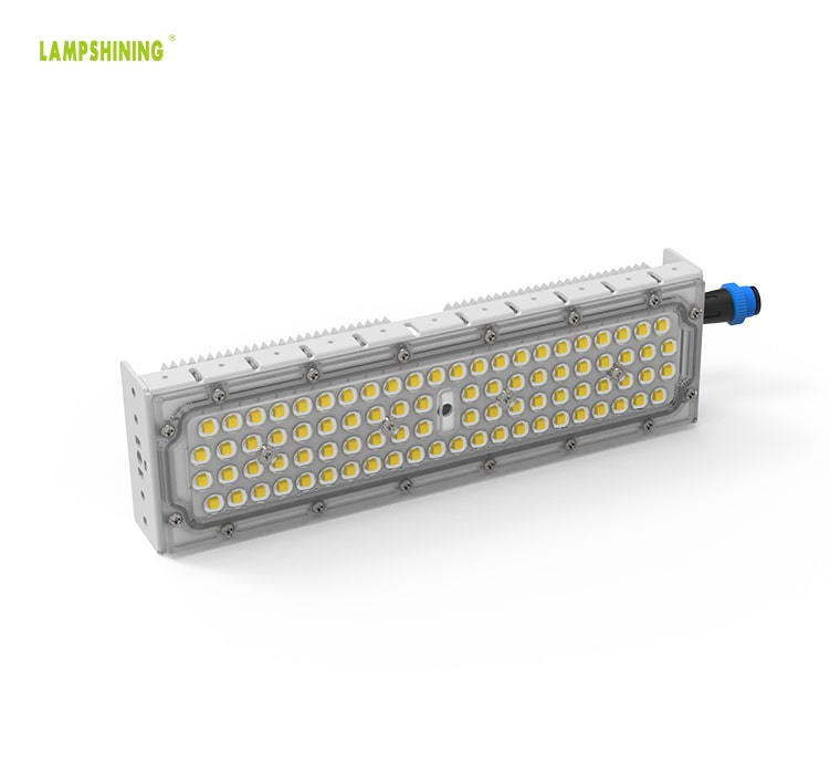 50W LED Module Light, Portable and lightweight 46-48VDC M15 Waterproof Male Plug Aluminum Fin Moduler Lighting