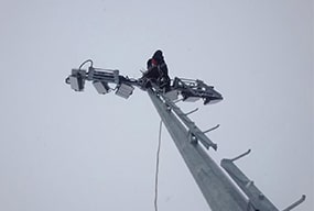 400W LED High Mast Sports lighting - Russian Lighting Case Project Sharing