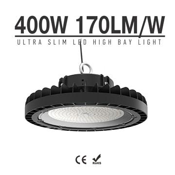 Ultra Slim 400W 68000lm High Power UFO LED High Bay Light - CE RoHS Aluminum Industry Waterproof Lighting Fixtures
