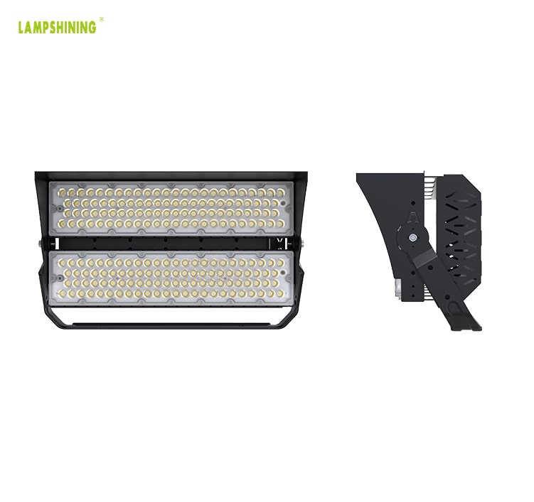 400W 480W LED Sports Light, 100-277vac, CRI80, IP66, Dimmable Wall, Ground, Pole Installation Flood Light