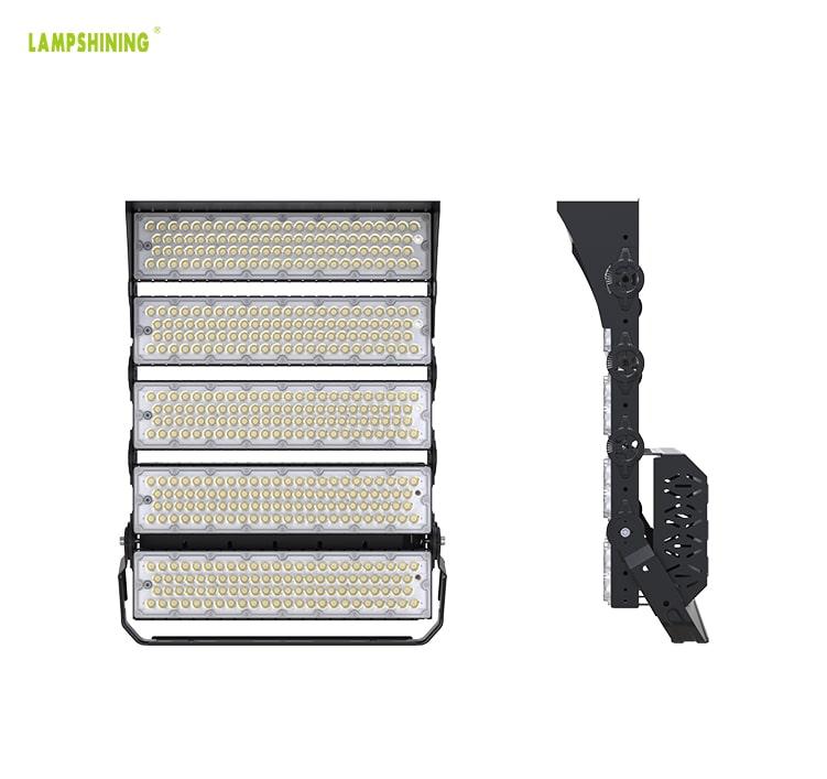 1000W Aluminum 5 Module LED Sport Light Fixtures, Outdoor 20Kg IP66 Waterproof 100-277V Arean Light