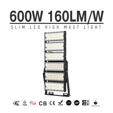 600W-A TUV SAA LED High Mast Light,Rotatable Module,160Lm/W,96,000 Lumen,IP65,Stadium Light,Sports Lighting,Flood Lighting
