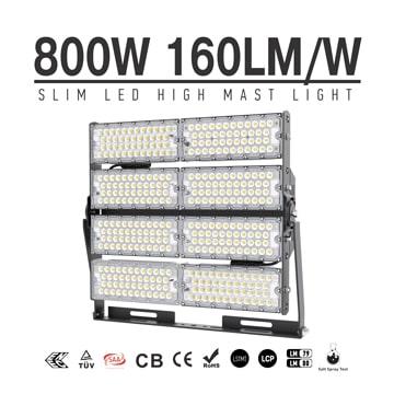800W TUV SAA Industrial, Wharfs LED High Mast Light for sale