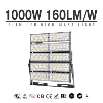 1000W TUV CE Area, Large Square, Airport LED High Mast Light, 160000 Lumens