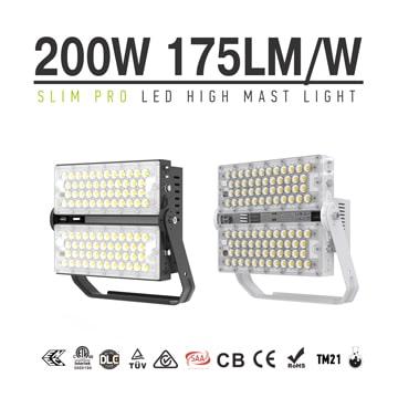 200W 175Lm/W Module LED Flood Light - Aluminum Dimmable Daylight IP66 Waterproof Outdoor Work Light