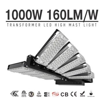 1000w LED Flood Light, Lightweight Stadium LED High Mast floodlights, Rotatable Module Stadium Lights, Flood Lighting