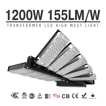 1200W High Pole Lights - LED High Mast Lighting - 186000 Lumen