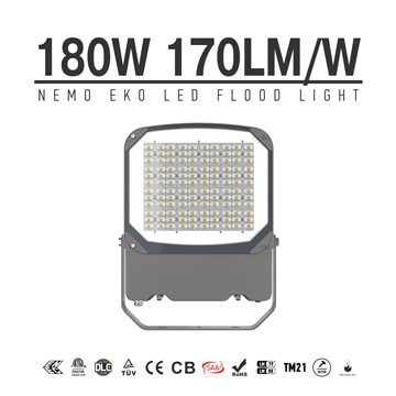 180W NEMO EKO LED Flood Light, Parking Lot, Landscape Garden LED Lamp, Tempered Glass Lens Portable Outdoor Area LED Flood Light