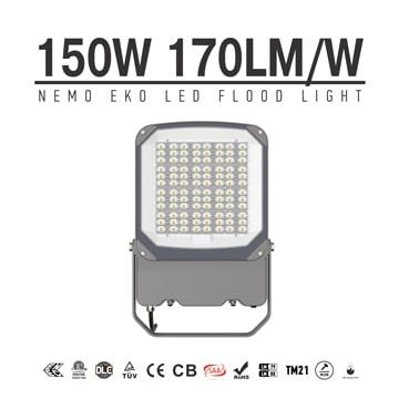150W NEMO EKO LED Flood Light, 100-277VAC High lumen security waterproof smart Work Flood Lighting