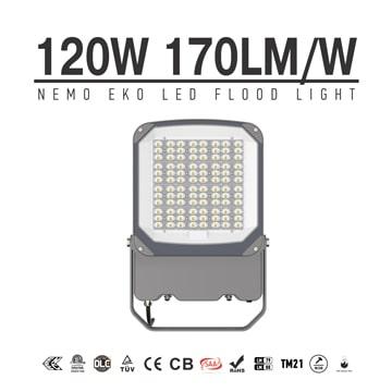 120W LED Flood Light 20,400lm, 100-277V Lightweight Daylight Landscape Tree floodlight
