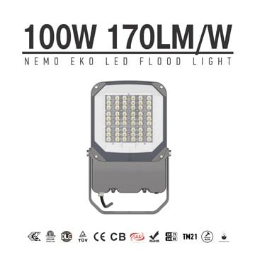 NEMO EKO 100W LED Flood Light 17000lm,Aluminium Efficeient 170Lm/W,100-277V Work Security Garden Lawn floodlight