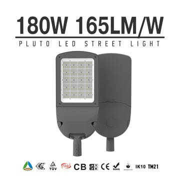 SASO IECEE 180W LED Street Light, Outdoor Area Roadway Lighting   27,000 lm, 400W MH Equivalent