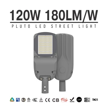 120w LED Street Light 180lm/W SASO approved, meanwell driver Outdoor energy saving LED Lighting