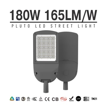 SASO IECEE 180W LED Street Light, Outdoor Area Roadway Lighting | 27,000 lm, 400W MH Equivalent