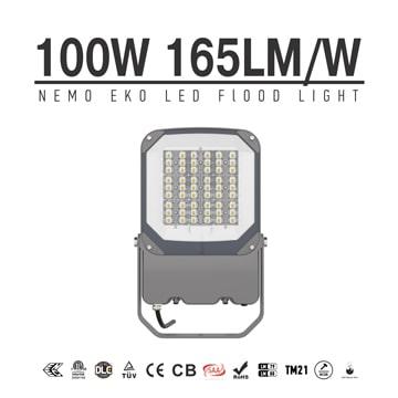 NEMO EKO 100W LED Flood Light 16500lm,Aluminium Efficeient 165Lm/W,100-277V Work Security Garden Lawn floodlight