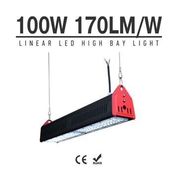100W LED Linear High Bay Light 17000Lm CE RoHS TUV ETL DLC