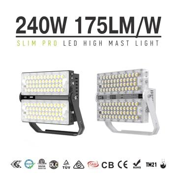 240W 42,000 Lumens Slim Pro LED High Mast Flood Lights for Light Tower Lighting