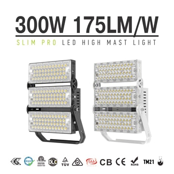 300W Aluminum LED Crane Lights, IP65 Waterproof 100-277 VAC Overhead Crane Light, Work Light