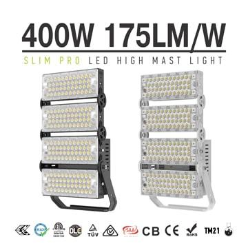 400W 480W Black Grey Light Tower Light Fixtures - 100-277V 10kg Dimmable Aluminum Fin Bracket Module Flood Light