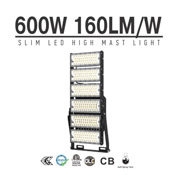 600W-A LED High Mast Light,Rotatable Module,160Lm/W,96,000 Lumen,IP65,Stadium Light,Sports Lighting,Flood Lighting