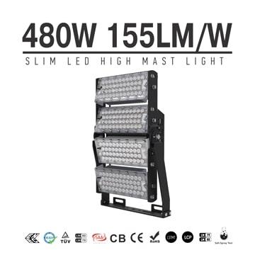 480W-A TUV SAA LED High Mast Light,Rotatable Module,155Lm/W,74400 Lumen,IP65,Stadium Light,Sports Lighting,Flood Lighting
