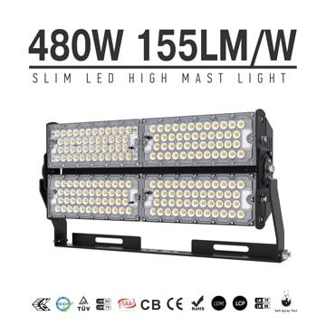 480W TUV CE LED Wharf, Park Flood High Mast Lighting