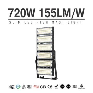 720W-A TUV SAA LED High Mast Light,Rotatable Module,155Lm/W,111,600 Lumen,IP65,Stadium Light,Sports Lighting,Flood Lighting