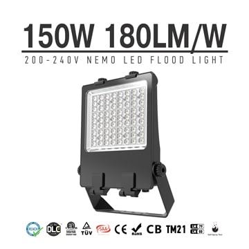 150 Watt LED Flood Light CE RoHS 240V Outdoor yoke bracket Flood Pole Light