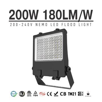 High power LED Flood Light 200W, IP66 Wateproof Commercial Outdoor Stadium Sportlights