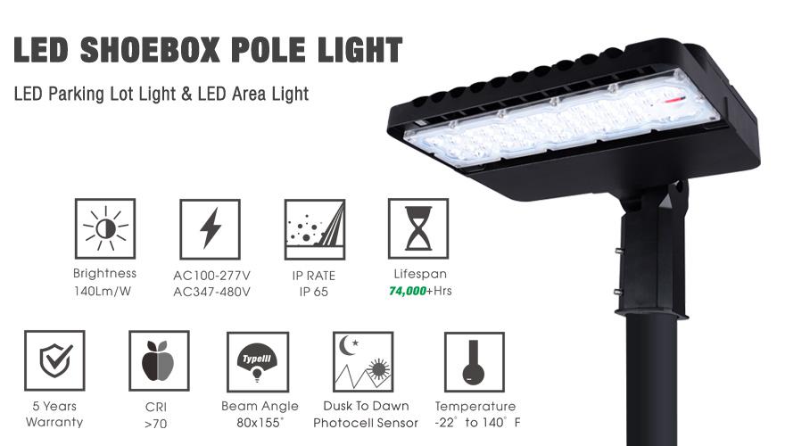 LED Shoebox Light Fixtreus 100w 150w 300w
