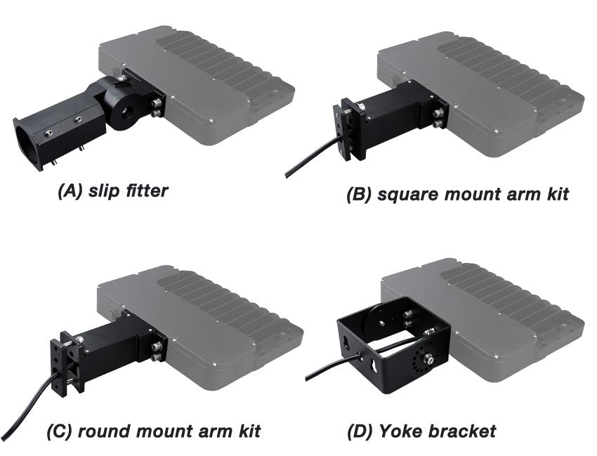 led shoebox light fixtures four Optional Arms.jpg