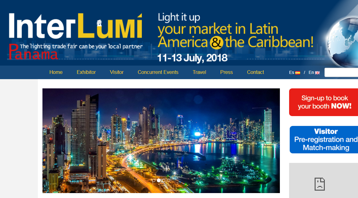 Lamp Shining is participating in Panama InterLumi lighting.png